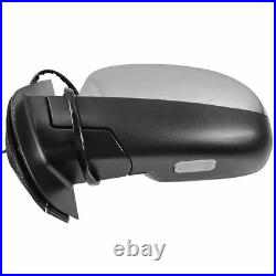 TRQ Mirror Power Folding Heated 11 Dot LED Turn Signal Driver Side LH for GM New