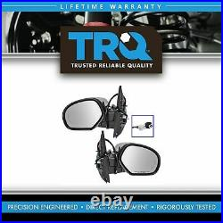 TRQ Mirror Power Folding Heated 11 Dot LED Turn Signal Pair Set of 2 for GM New
