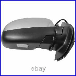 TRQ Mirror Power Folding Heated 11 Dot LED Turn Signal Passenger Side RH for GM