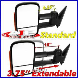 Telescopic Amber LED Signal Towing Mirrors For 2002-2006 Chevy Suburban Sierra