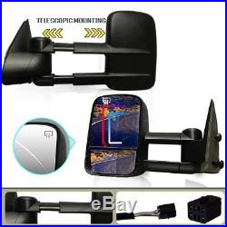 Tow Mirrors for 99-02 Chevy Silverado Power Heated Smoke Turn Signals Clearance