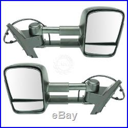 Towing Mirror Power Heated Folding Memory Turn Signal Marker Light Pair for GMC