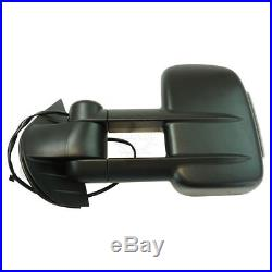 Towing Mirror Power Heated Folding Turn Signal with Marker Light for Chevy GMC New