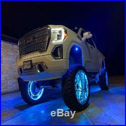 Turn Signal Function 17'' Car Truck LED Wheel Ring Rim Light Illuminate RGB