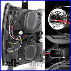 U Neon Bar Style Black Smoke 2014-15 Silverado 1500 LED DRL Projector Headlights