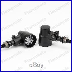 Universal Mini Amber LED Turn Signal Light Indicator Blinker Bobber Motorcycle