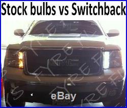 White/Amber Switchback LED turn signals & Amber Side marker package 07-13 sierra