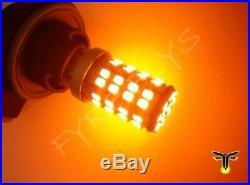 White/amber switchback Turn Signal LEDs & resistors 2007-2013 GMC Sierra #G4x2