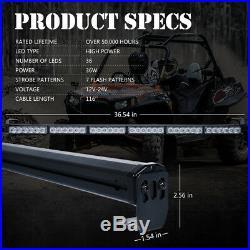Xprite 36 UTV ATV Rear Chase LED Light Bar Strobe Reverse Brake Lighting 12V